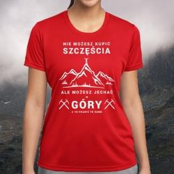 """Koszulka termoaktywna """"Góry Szczęścia"""" DAMSKA"""