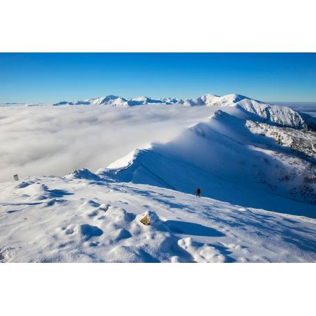 Wydruk papier foto - Spacer ponad chmurami
