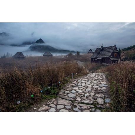 Wydruk na piance - Hala Gąsienicowa jesień