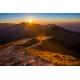 Wydruk na piance - Zachód słońca na Skrajnej Turni