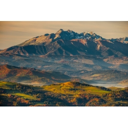 Wydruk na piance - Widok na Tatry z Radziejowej