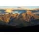 Wydruk na piance - Tatry o zachodzie słońca