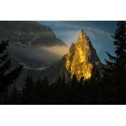 Wydruk papier foto - Mnich o wschodzie słońca