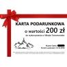 Karta podarunkowa 200 zł
