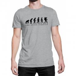 """Koszulka """"Homo sapiens taternicus"""" MĘSKA szara XXL"""