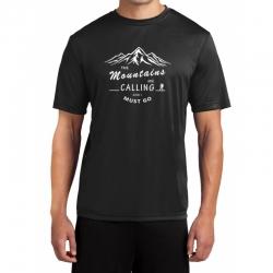 "Koszulka termoaktywna ""MOUNTAINS CALLING"" meska czarna M"
