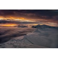 Zachód słońca na Kasprowym Wierchu - wydruk zdjęcia