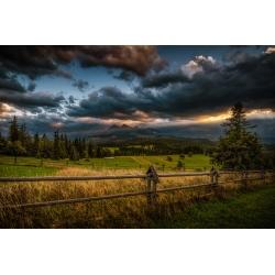 Zachód słońca na Łapszance - wydruk zdjęcia