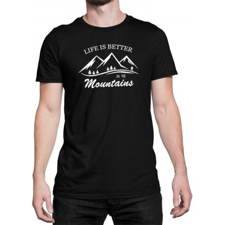 """Koszulka """"Life is better in the mountains"""" MĘSKA"""