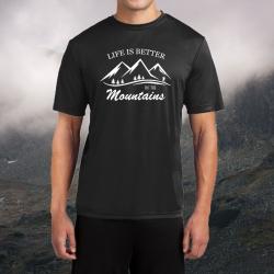 """Koszulka termoaktywna """"Life is better in the mountains"""" MĘSKA"""