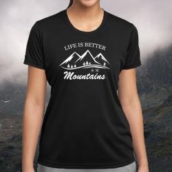 """Koszulka termoaktywna """"Life is better in the mountains"""" DAMSKA"""