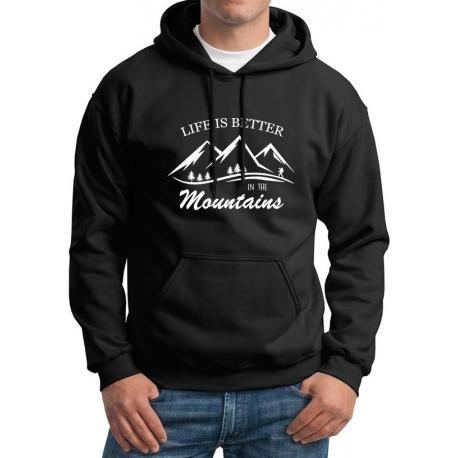 "Bluza ""LIFE IS BETTER IN THE MOUNTAINS"" męska"