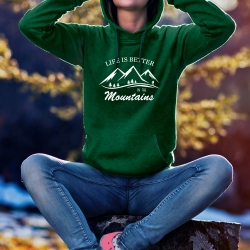 """Bluza """"LIFE IS BETTER IN THE MOUNTAINS"""" damska"""