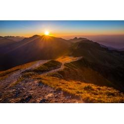 Wydruk papier foto - Zachód słońca na Skrajnej Turni